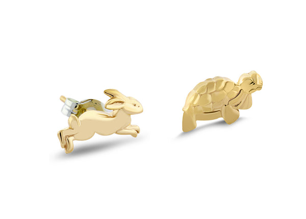 Tortoise and the Hare Stud Earrings