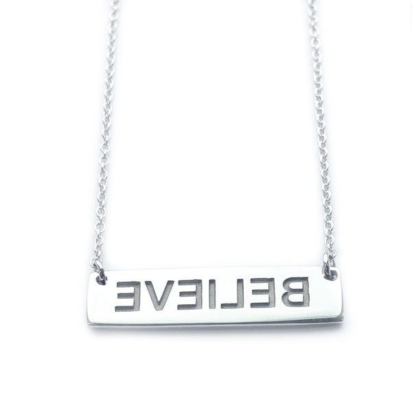 Mirror Image BELIEVE Necklace