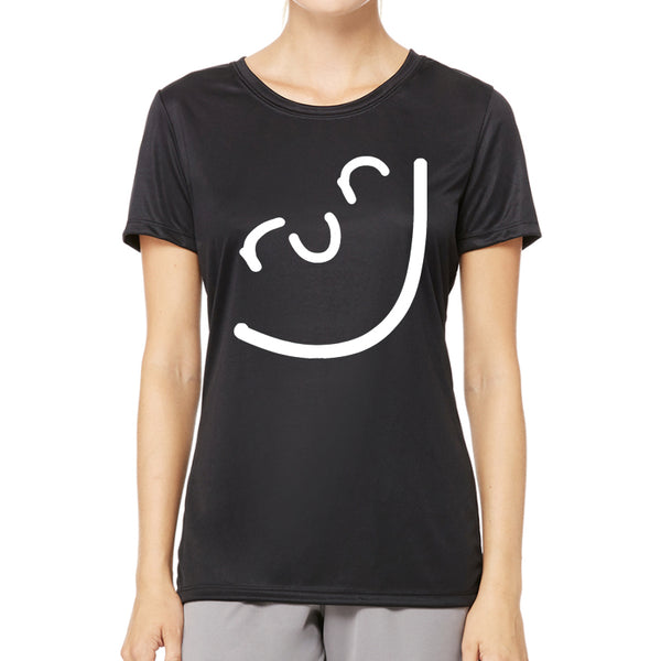 Run Smile Tech Tee Black