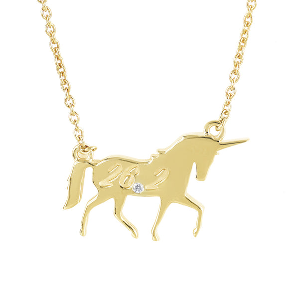 Diamond Unicorn Necklace