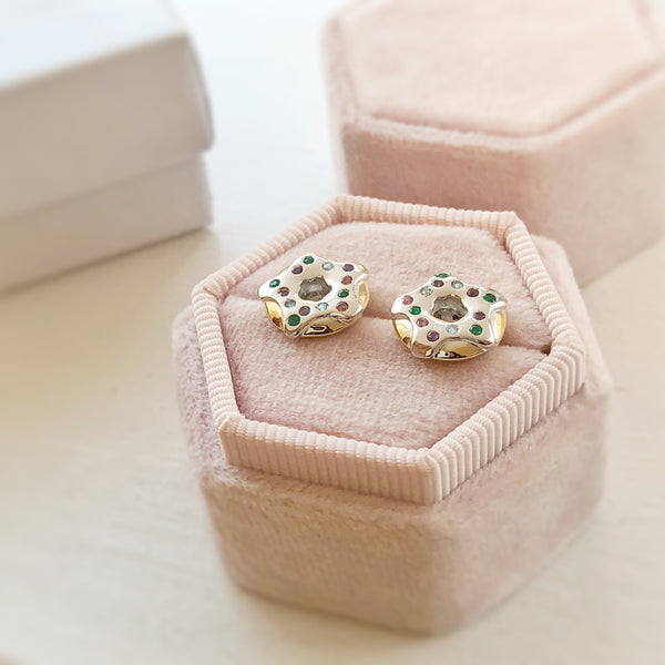 Sprinkled Donut Earrings