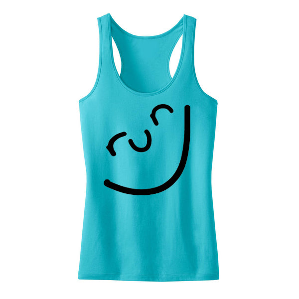 Run Happy Face Tank Aqua