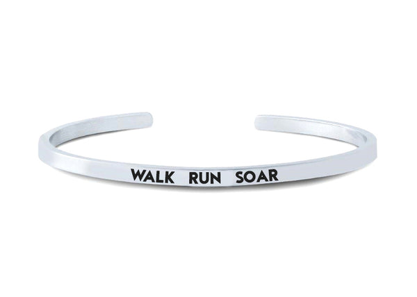 WALK RUN SOAR Cuff Bracelet