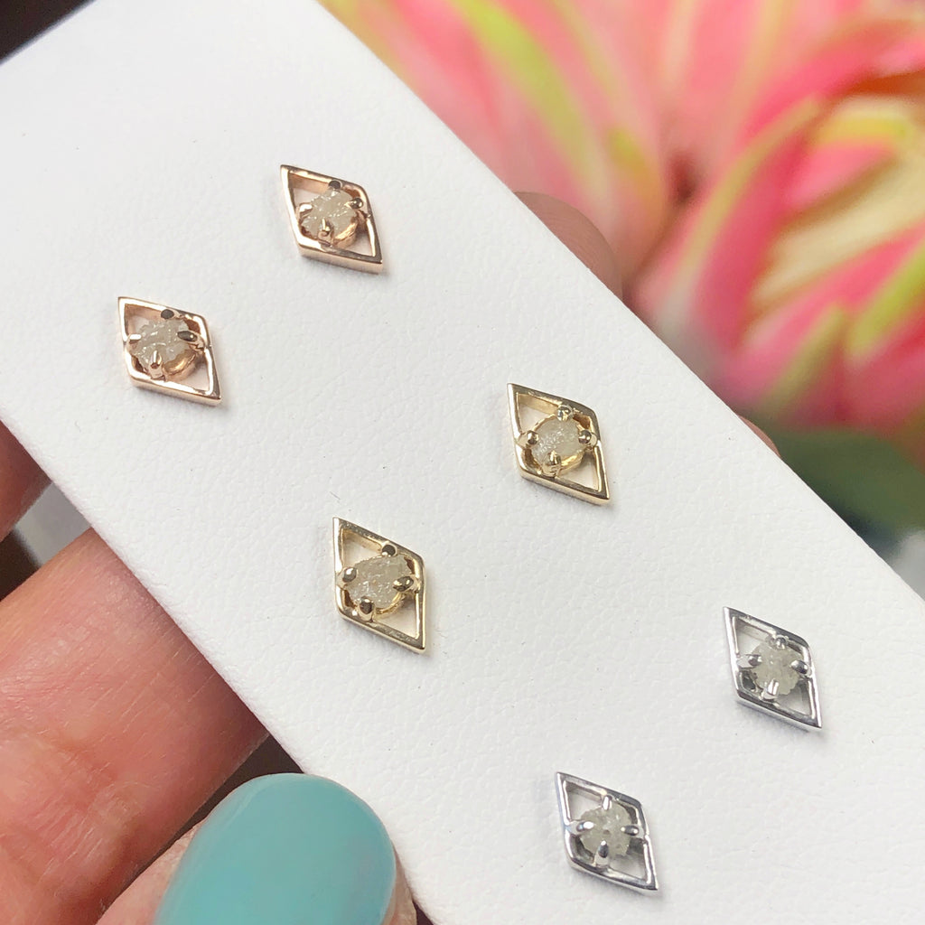 Rough Diamond Diamond Studs