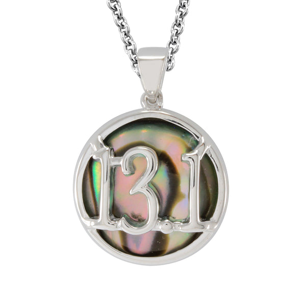 Abalone Half Marathon Necklace 13.1