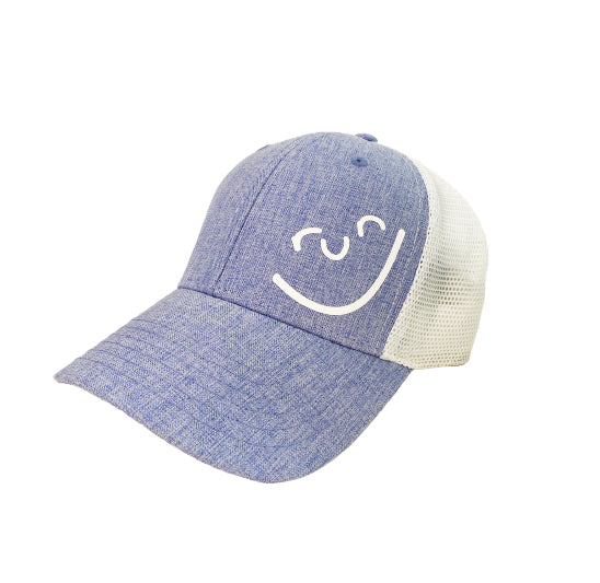 Run Smiley Hat Grey/Black