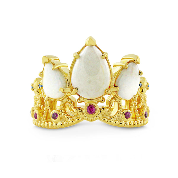 Opal Princess Tiara Ring