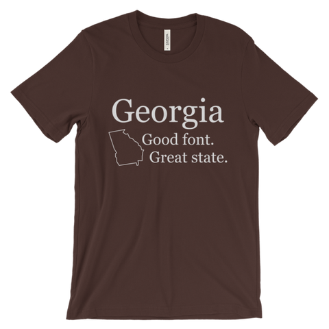 Georgia Font unisex t-shirt (dark)