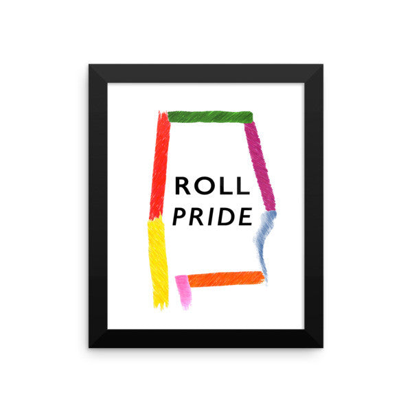 Framed Alabama Pride poster
