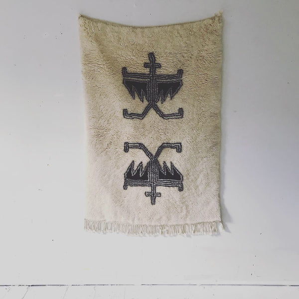 PEACE ANGEL WITH WINGS HANDWOVEN TAPESTRY