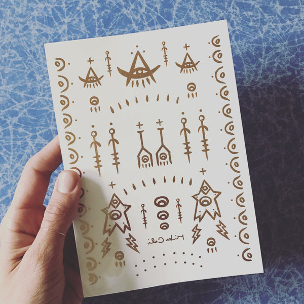 Temporary Tattoos - Assorted Symbols