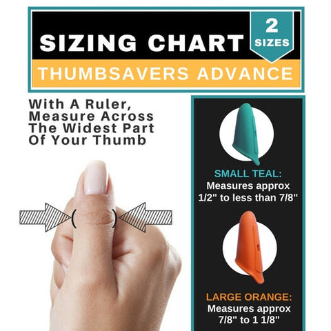 Thumbsavers Advance Massage Trigger Point Therapy Tool Sizing Chart
