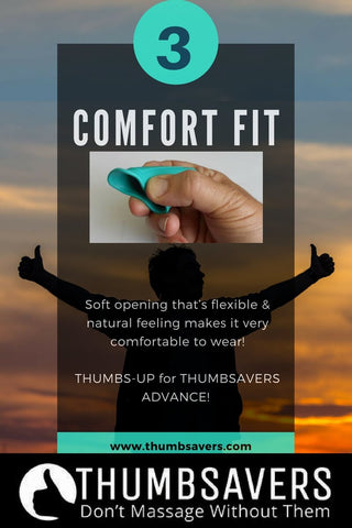 Thumbsavers Advance Trigger Point Tool - Comfort Fit Soft Opening