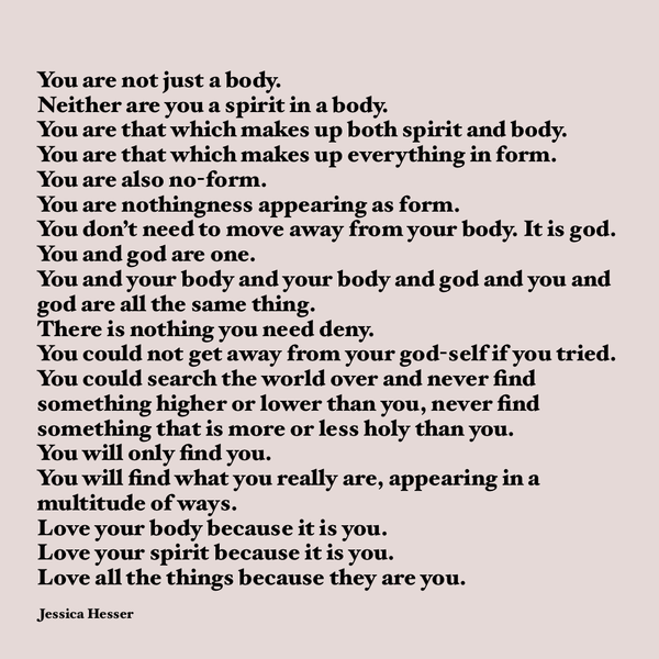 You are not just a body