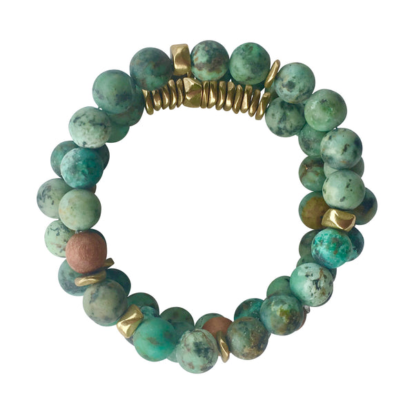 African Turquoise Stack