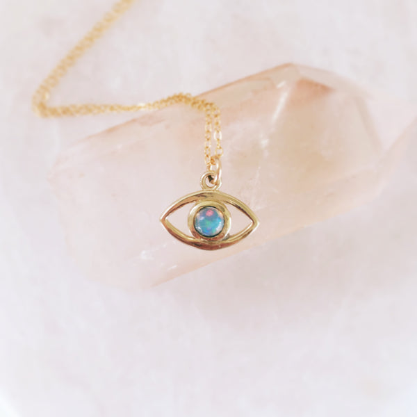 Evil Eye Opal Necklace