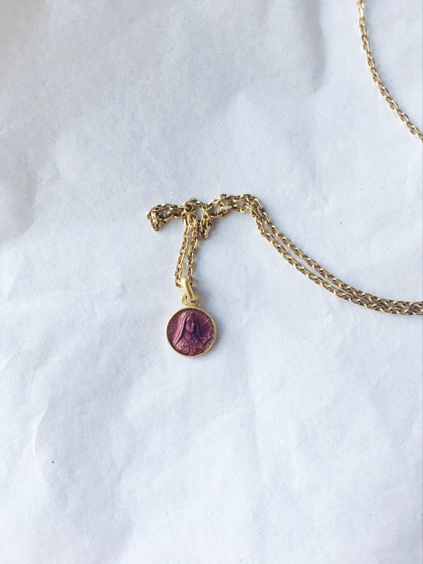 Tiny French Mary Necklace *VINTAGE*
