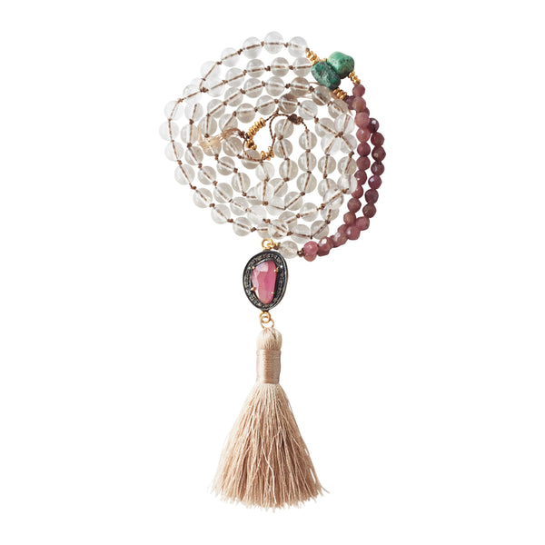 Rani Ruby + Diamond Knotted Necklace