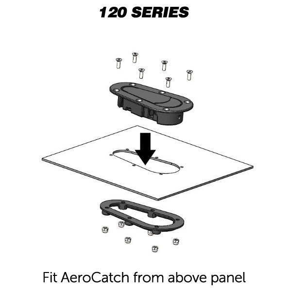 Aerocatch Carbon Fiber non-locking 120 Series