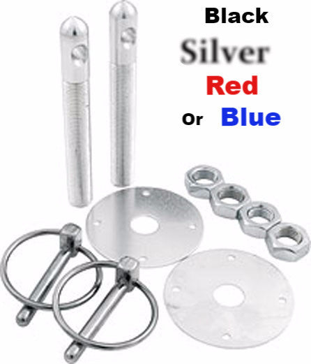 "Aluminum Hood Pin Kits 1/2"" Pins"