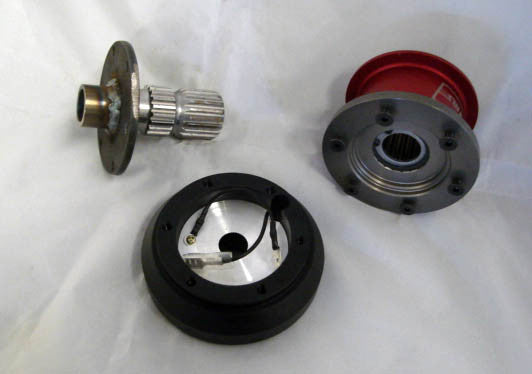 "SPLINE 6 Bolt 1"" setback Quick Release Steering Wheel Kit"