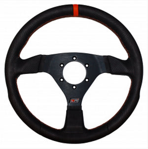 MPI 12.75 inch Aluminum Suede Steering Wheel