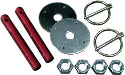 Aluminum Hood Pin Kit 3/8""