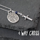 4 Way Cross Crucifix Necklace