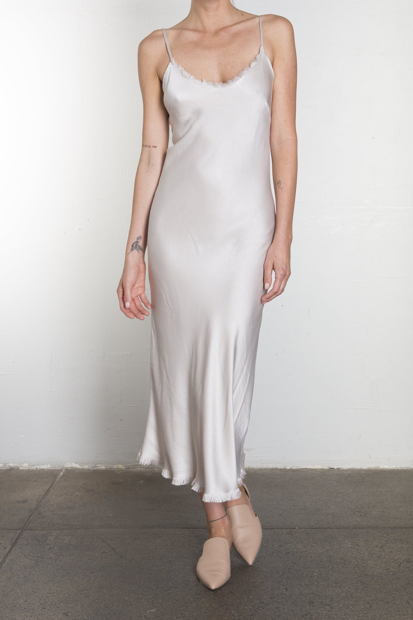 cf5bf908eaf7 Farrah Slip Dress in Vintage Satin - Parchment – Pharaoh Collection