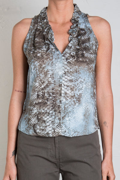 KNIGHTLY PRINTED TOP - WATERSNAKE