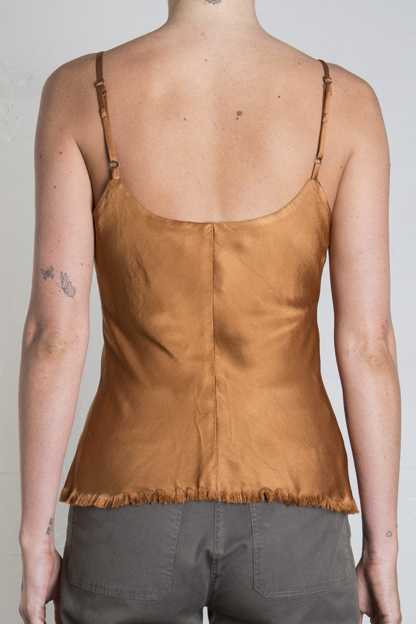 DAWN CAMI VINTAGE SATIN - TOFFEE