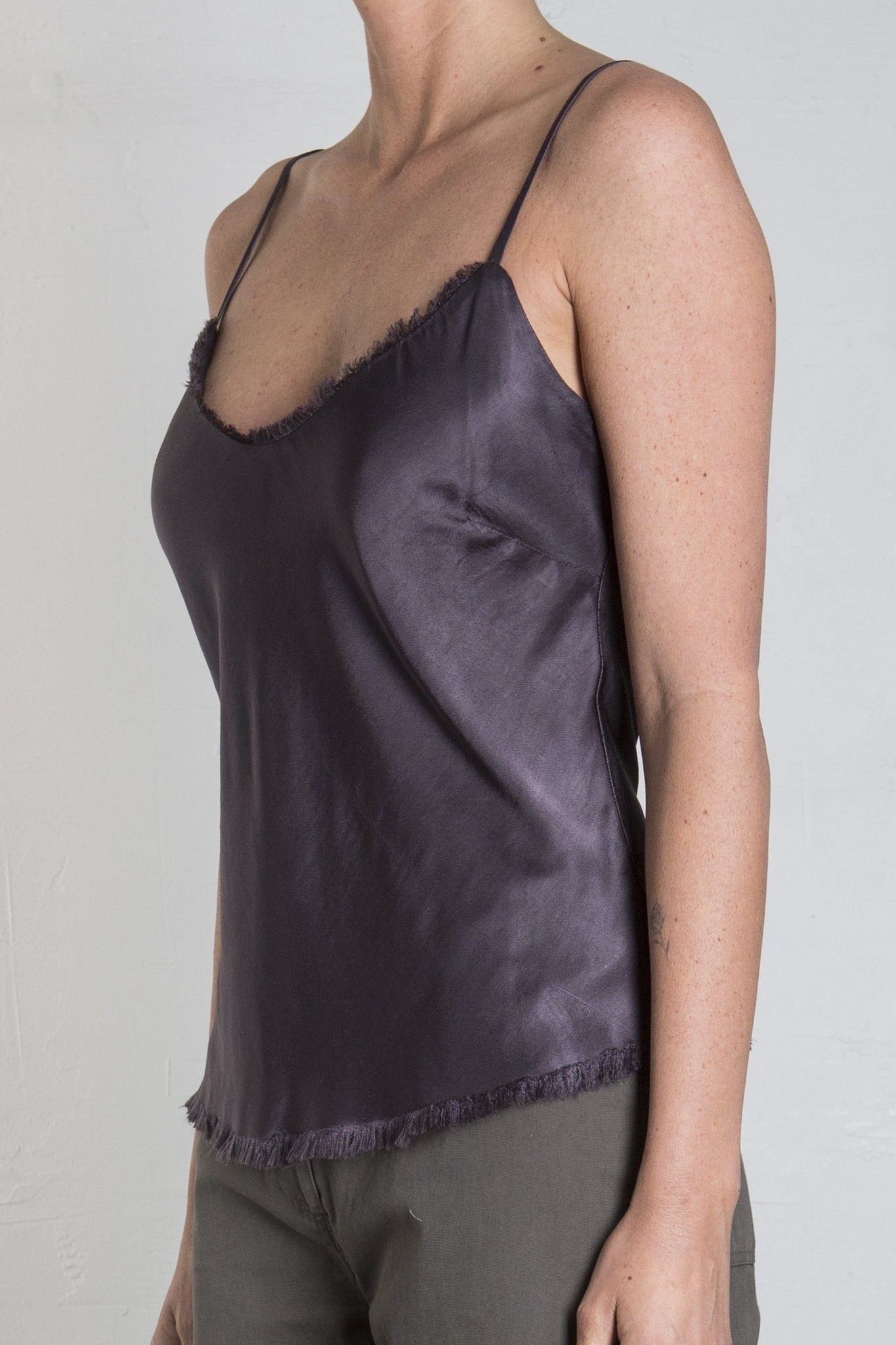 DAWN CAMI VINTAGE SATIN - GRAPHITE