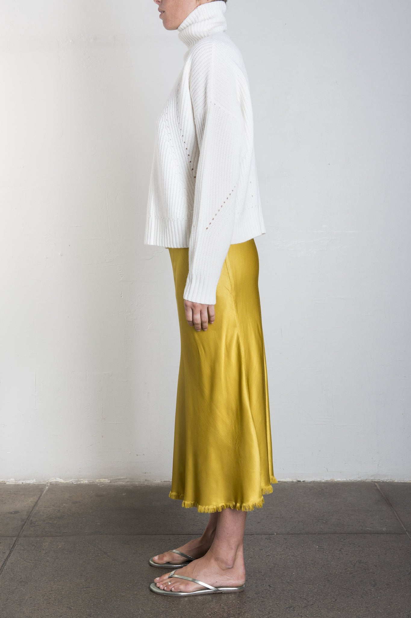 Riley Vintage Satin Skirt - SUN