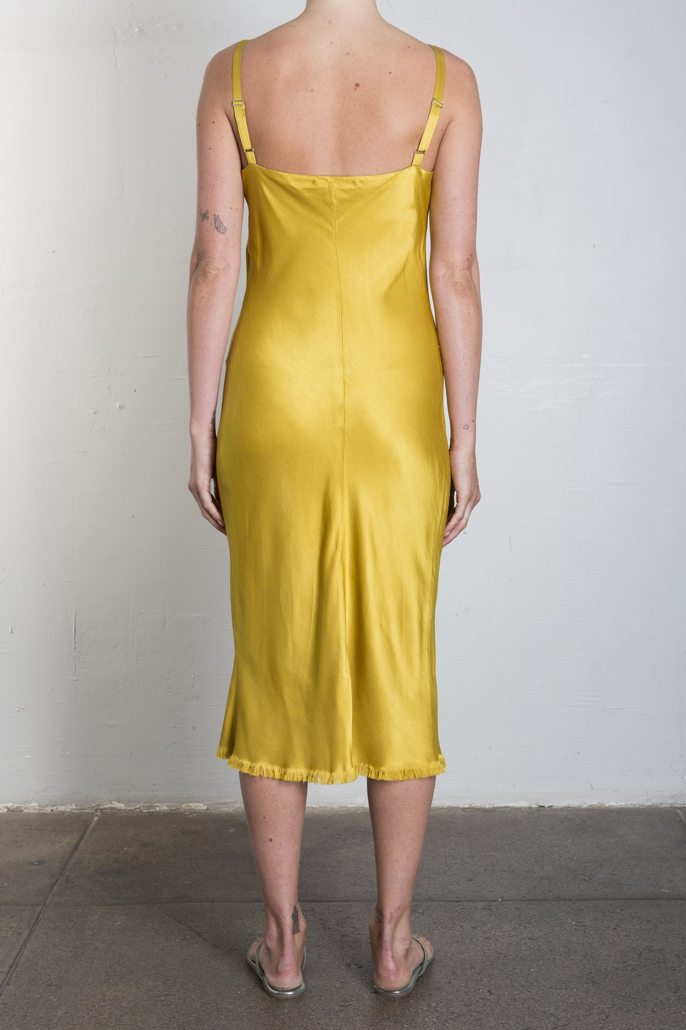 JANE SLIP DRESS - DIJON