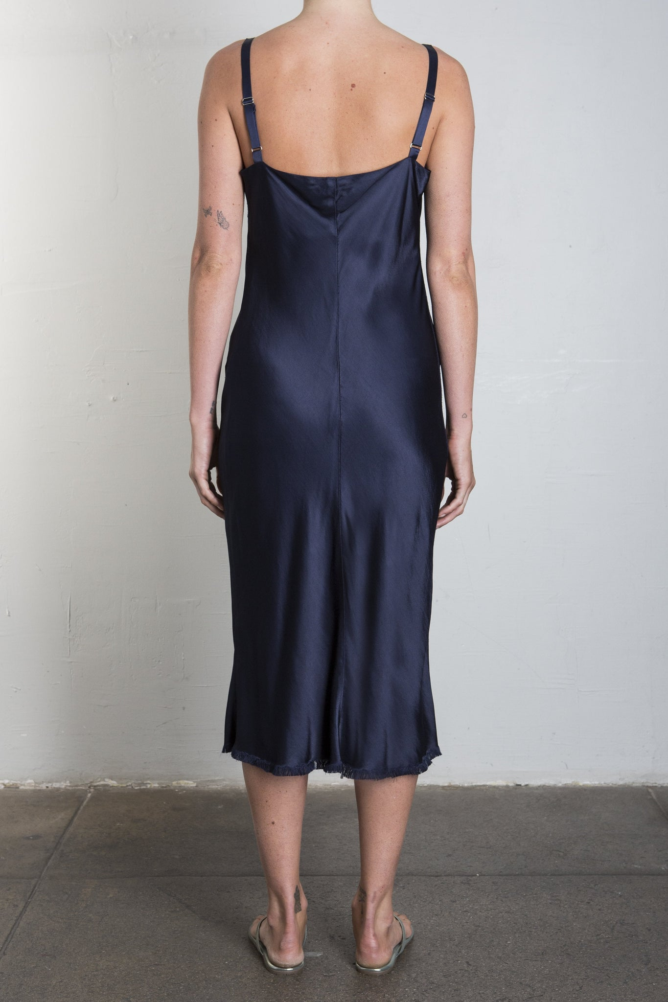 JANE SLIP DRESS - NAVY
