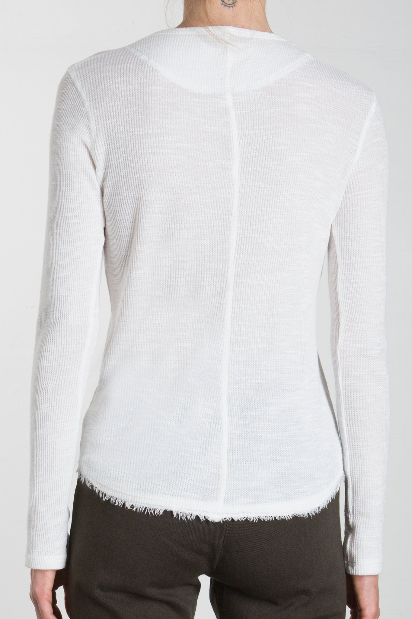 THERMAL HENLEY - SNOW