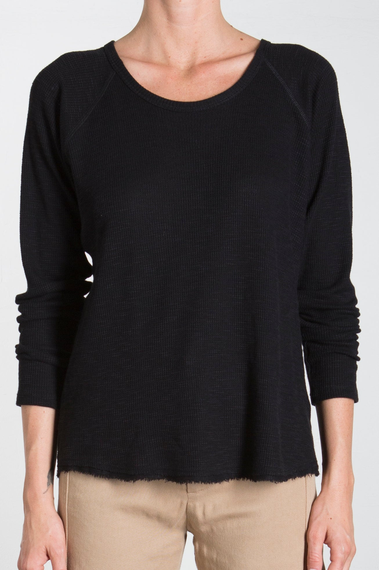 THERMAL RAGLAN - BLACK