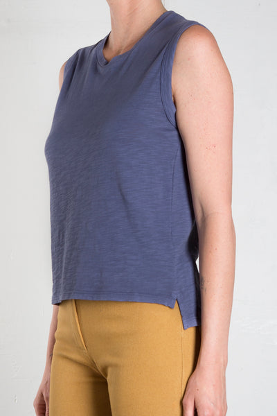 AVA CROP TANK - DENIM