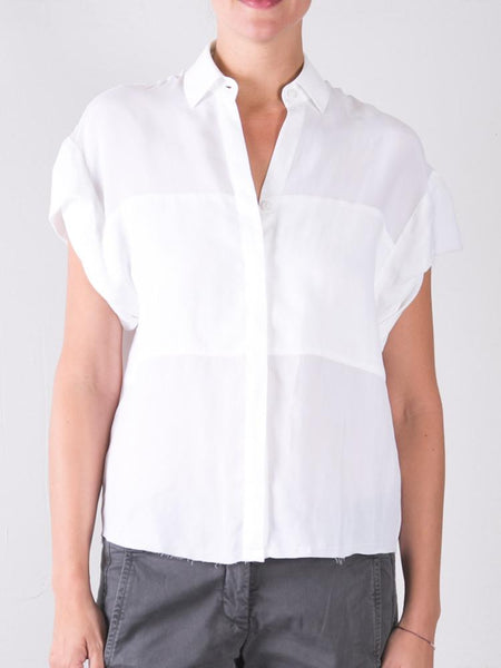 Cupro Danny Roll Slv Shirt - White