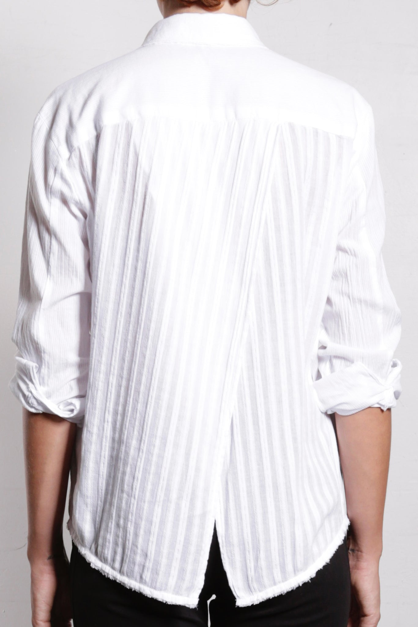 Thea Shirt in Cotton Tonal Stripe