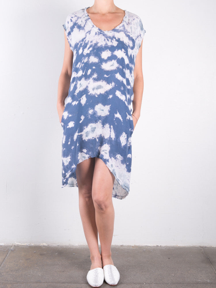 Cupro Marble Cocoon Dress