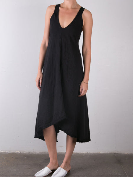 Double Gauze Trazpeze Dress / Black