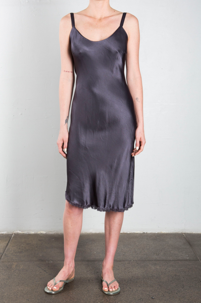 Jane Slip Dress in Graphite