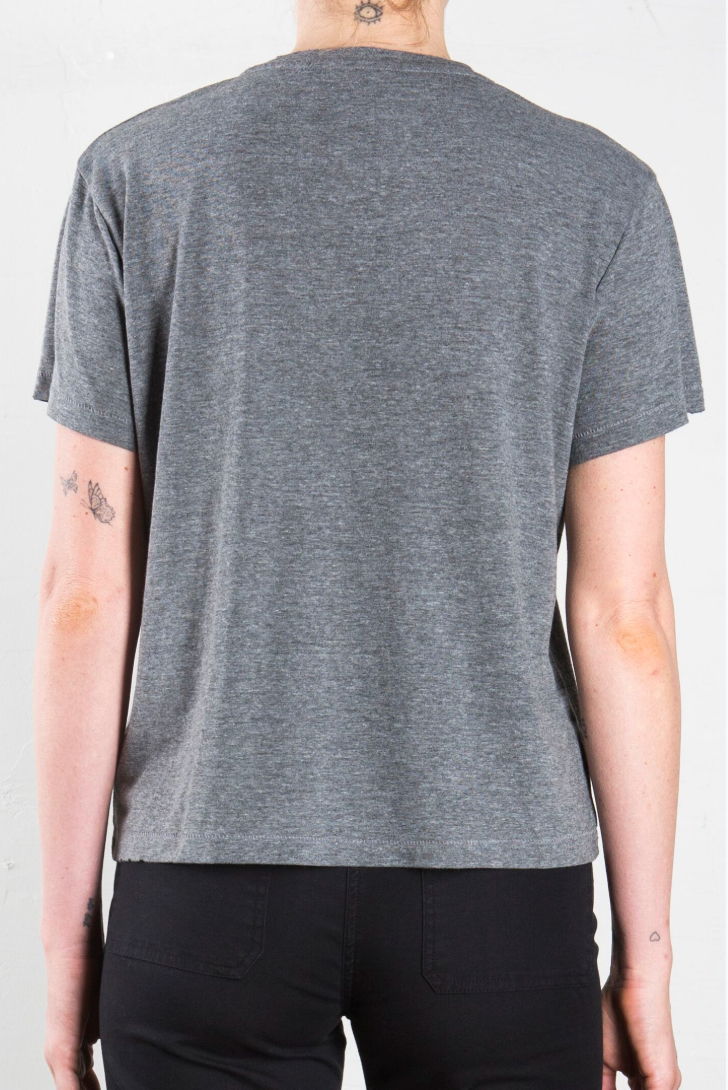 Audrey Baby Destroyed Tee - Heathered Grey