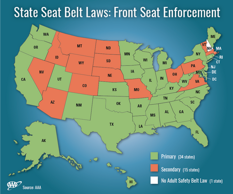 Seatbelt Laws A Mixed Bag In The U S Ingear Automotive Tools