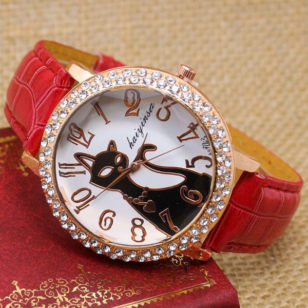 Crystal Cat Watch