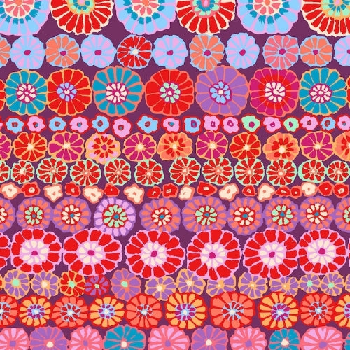 Kaffe Fassett Collective - Row Flowers - Boysenberry
