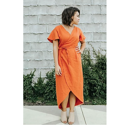 Charli Anne Wrap Dress - Sew to Grow