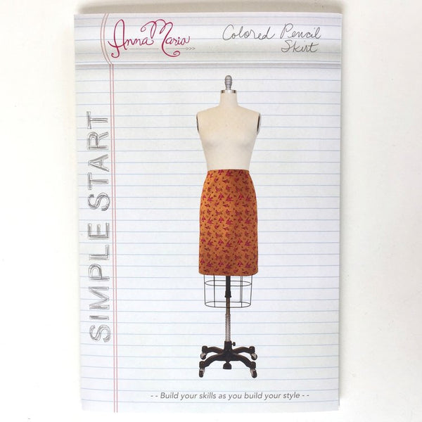 Coloured Pencil Skirt - Anna Maria