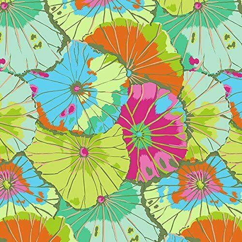 Kaffe Fassett Collective - Lotus Leaf - Multi pink orange yellow